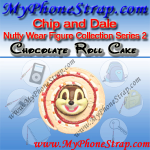 CHIP CHOCOLATE ROLL CAKE BY TOMY ... US NUTTY WEAR FIGURE COLLECTION SERIES 2 DETAIL