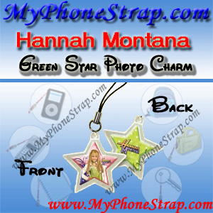 HANNAH MONTANA GREEN STAR BY TOMY -- US PHOTO CHARM COLLECTION 1 DETAIL