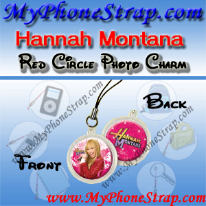 HANNAH MONTANA RED CIRCLE BY TOMY -- US PHOTO CHARM COLLECTION 1 DETAIL