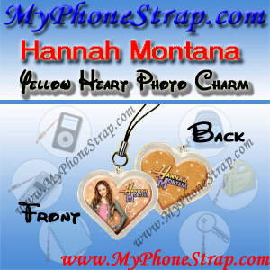 HANNAH MONTANA YELLOW HEART BY TOMY -- US PHOTO CHARM COLLECTION 1 DETAIL