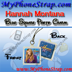 HANNAH MONTANA BLUE SQUARE BY TOMY -- US PHOTO CHARM COLLECTION 1 DETAIL