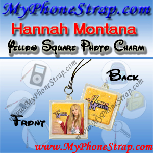 HANNAH MONTANA YELLOW SQUARE BY TOMY -- US PHOTO CHARM COLLECTION 1 DETAIL