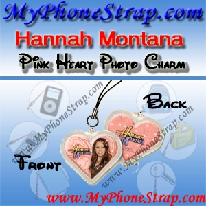 HANNAH MONTANA PINK HEART BY TOMY -- US PHOTO CHARM COLLECTION 1 DETAIL