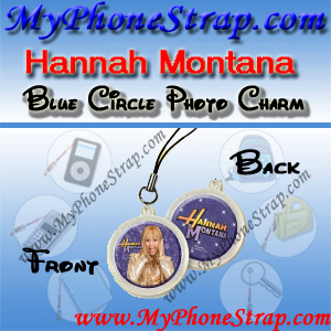 HANNAH MONTANA BLUE CIRCLE BY TOMY -- US PHOTO CHARM COLLECTION 1 DETAIL