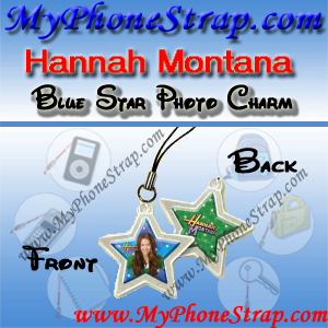 HANNAH MONTANA BLUE STAR BY TOMY -- US PHOTO CHARM COLLECTION 1 DETAIL