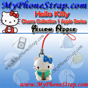 HELLO KITTY YELLOW APPLE BY TOMY ... US APPLE CHARM COLLECTION SERIES 1 DETAIL