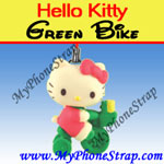 Click here for HELLO KITTY GREEN BIKE BY TOMY ... US FIGURE CHARM COLLECTION 2 RETRO SERIES Detail