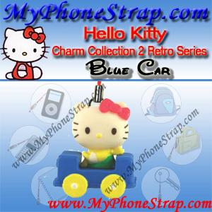 HELLO KITTY BLUE CAR BY TOMY ... US FIGURE CHARM COLLECTION 2 RETRO SERIES DETAIL