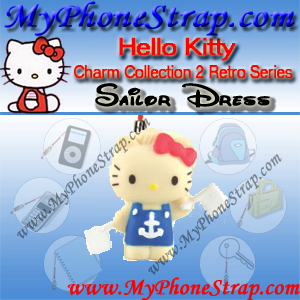 HELLO KITTY SAILOR DRESS BY TOMY ... US FIGURE CHARM COLLECTION 2 RETRO SERIES DETAIL