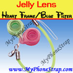 Click here for JELLY LENS -- HEART FRAME BLUE FILTER LENS 403G Detail