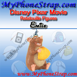 PIXAR RATATOUILLE MOIVE FIGURE EMILE BY TOMY ... US FIGURE CHARM COLLECTION DETAIL