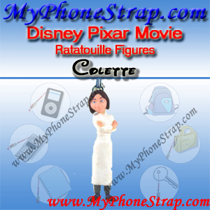 PIXAR RATATOUILLE MOIVE FIGURE COLETTE BY TOMY ... US FIGURE CHARM COLLECTION DETAIL