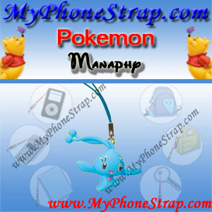 POKEMON MANAPHY BY TOMY ... US FUN FIGURE CHARMS SERIES 3 DETAIL