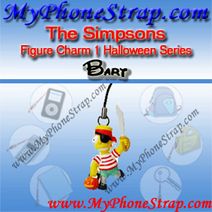 BART SIMPSON BY TOMY ... US FIGURE CHARM COLLECTION 1 HALLOWEEN SERIES DETAIL