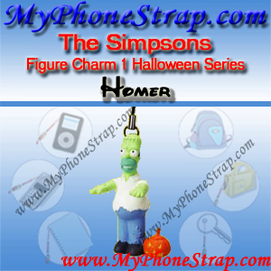 HOMER SIMPSON BY TOMY ... US FIGURE CHARM COLLECTION 1 HALLOWEEN SERIES DETAIL