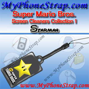 NINTENDO DS SUPER MARIO BROS. -- STARMAN -- BY TOMY -- US SCREEN CLEANERS COLLECTION 1 DETAIL