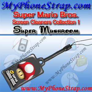 NINTENDO DS SUPER MARIO BROS. -- SUPER MUSHROOM -- BY TOMY -- US SCREEN CLEANERS COLLECTION 1 DETAIL