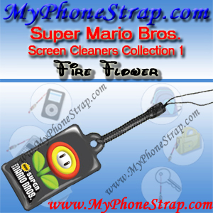 NINTENDO DS SUPER MARIO BROS. -- FIRE FLOWER -- BY TOMY -- US SCREEN CLEANERS COLLECTION 1 DETAIL
