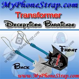 DECEPTICON BARRICADE TRANSFORMER BY TOMY ... US SCREEN CLEANERS CHARMS 1 DETAIL