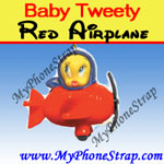 BABY TWEETY RED AIRPLANE BY COOLTHINGS ... TRAVEL TOYS SERIES image