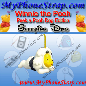 WINNIE THE POOH SLEEPING DOG PEEK-A-POOH BY TOMY ... EUROPE MINI WINNIES DOG COLLECTION DETAIL
