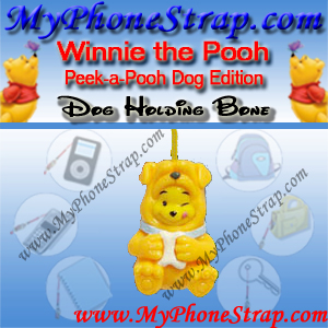 WINNIE THE POOH DOG HOLDING BONE PEEK-A-POOH BY TOMY ... EUROPE MINI WINNIES DOG COLLECTION DETAIL