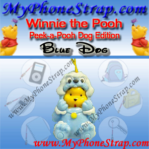 WINNIE THE POOH BLUE DOG PEEK-A-POOH BY TOMY ... EUROPE MINI WINNIES DOG COLLECTION DETAIL