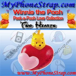 WINNIE THE POOH TWO HEARTS PEEK-A-POOH BY TOMY ... EUROPE MINI WINNIES LOVE COLLECTION DETAIL
