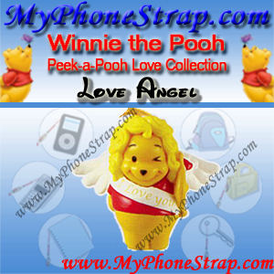 WINNIE THE POOH LOVE ANGEL PEEK-A-POOH BY TOMY ... EUROPE MINI WINNIES LOVE COLLECTION DETAIL