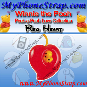 WINNIE THE POOH RED HEART PEEK-A-POOH BY TOMY ... EUROPE MINI WINNIES LOVE COLLECTION DETAIL