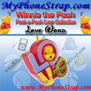 WINNIE THE POOH LOVE WORD PEEK-A-POOH BY TOMY ... EUROPE MINI WINNIES LOVE COLLECTION DETAIL