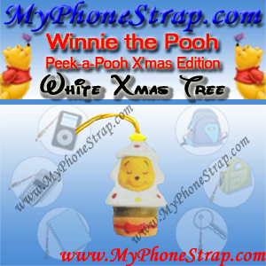 WINNIE THE POOH WHITE CHRISTMAS TREE PEEK-A-POOH BY TOMY ... JAPAN CHRISTMAS EDITION DETAIL