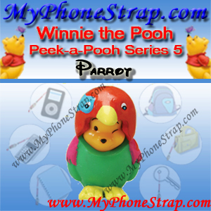 WINNIE THE POOH PARROT PEEK-A-POOH BY TOMY ... US SERIES 5 WILD EDITION DETAIL