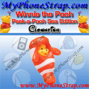 WINNIE THE POOH CLOWNFISH PEEK-A-POOH BY TOMY ... US SERIES 7 SEA ANIMAL EDITION DETAIL