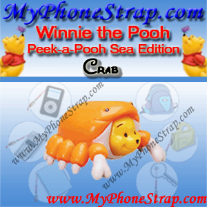 WINNIE THE POOH CRAB PEEK-A-POOH BY TOMY ... US SERIES 7 SEA ANIMAL EDITION DETAIL