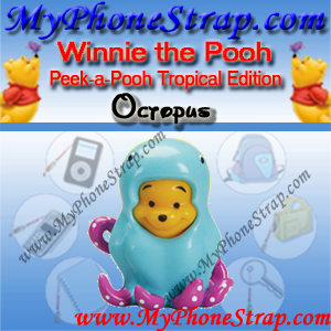 WINNIE THE POOH OCTOPUS PEEK-A-POOH BY TOMY ... US SERIES 8 TROPICAL EDITION DETAIL