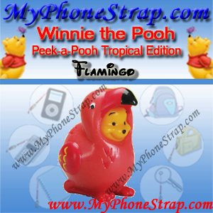 WINNIE THE POOH FLAMINGO PEEK-A-POOH BY TOMY ... US SERIES 8 TROPICAL EDITION DETAIL