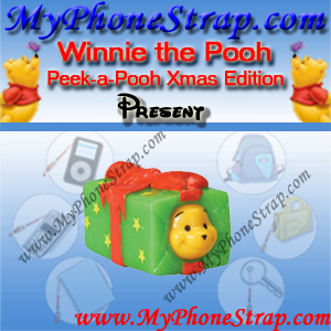 WINNIE THE POOH PRESENT PEEK-A-POOH BY TOMY ... US SERIES 10 CHRISTMAS EDITION DETAIL