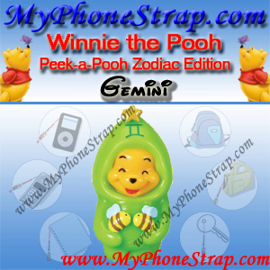 WINNIE THE POOH GEMINI PEEK-A-POOH BY TOMY ... US SERIES 11 ZODIAC EDITION DETAIL