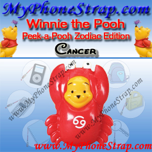 WINNIE THE POOH CANCER PEEK-A-POOH BY TOMY ... US SERIES 11 ZODIAC EDITION DETAIL