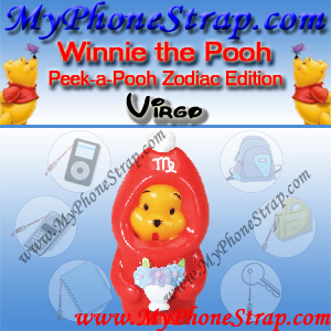 WINNIE THE POOH VIRGO PEEK-A-POOH BY TOMY ... US SERIES 11 ZODIAC EDITION DETAIL