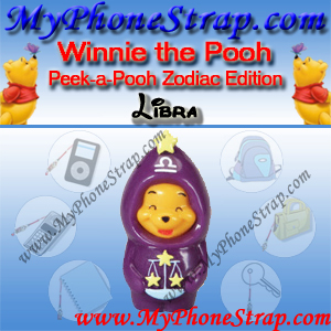 WINNIE THE POOH LIBRA PEEK-A-POOH BY TOMY ... US SERIES 11 ZODIAC EDITION DETAIL