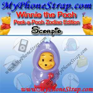 WINNIE THE POOH SCORPIO PEEK-A-POOH BY TOMY ... US SERIES 11 ZODIAC EDITION DETAIL