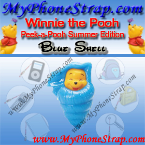WINNIE THE POOH BLUE SHELL PEEK-A-POOH BY TOMY ... US SERIES 14 SUMMER SPLASH EDITION DETAIL