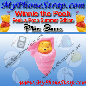 WINNIE THE POOH PINK SHELL PEEK-A-POOH BY TOMY ... US SERIES 14 SUMMER SPLASH EDITION DETAIL