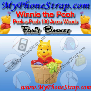 WINNIE THE POOH FRUIT BASKET PEEK-A-POOH BY TOMY ... US SERIES 16 100 ACRE WOODS EDITION DETAIL